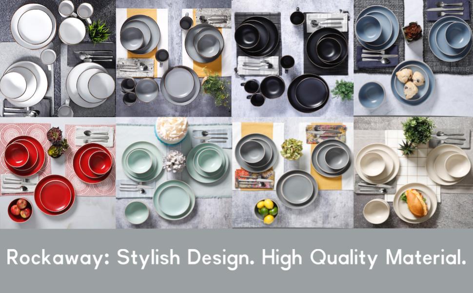 Stylish, trendy dishes, dinnerware