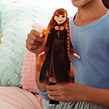 Image 1 of Disney Frozen Sister Styles Anna Fashion Doll, Extra-Long Red Hair Braiding Tool