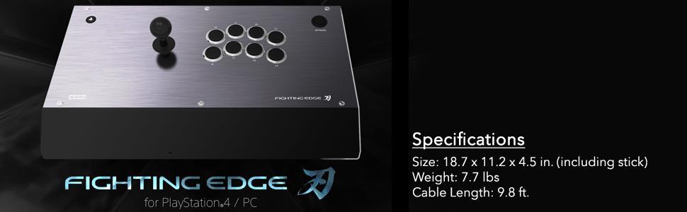 Amazon.com: HORI Fighting Edge Arcade Fighting Stick for ...