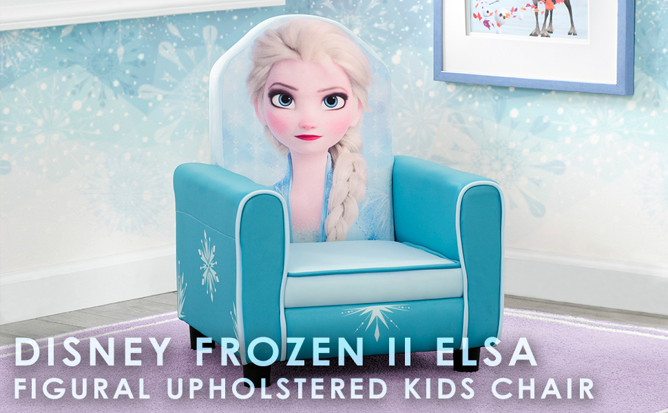 Delta Children Figural Upholstered Kids Chair Disney Frozen II Elsa