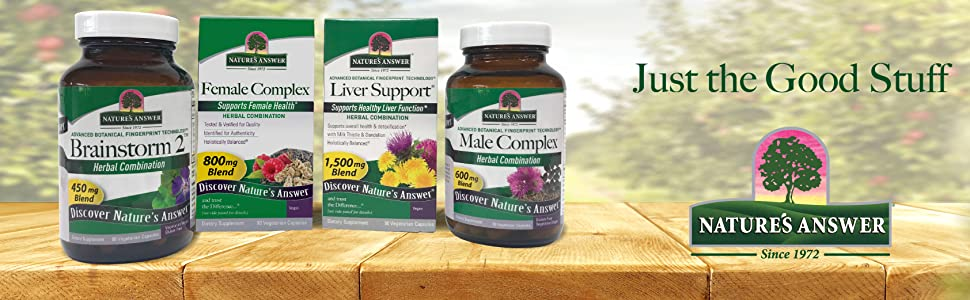 Natures answer, capsules, combination, vegan, gluten free, amazing herbs, health