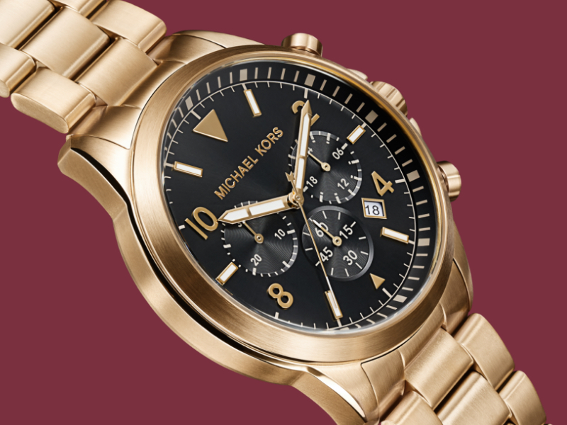 Gold Michael Kors Watch For Men