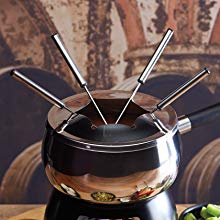 Details about New 17 Piece Stainless Steel Lazy Susan Fondue Party Set by My Perfect Kitchen