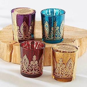 Henna Inspired Tea Light Holders