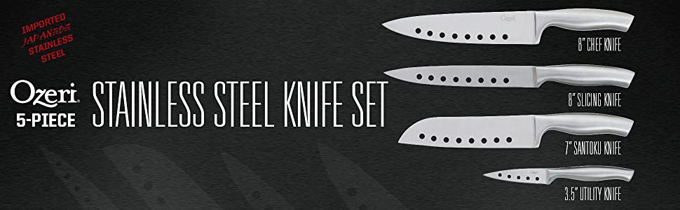 Japanese stainless steel knives; cutlery block set; steel forged knives; steak knife; steak knives