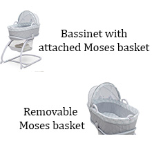 delta children moses basket bassinet sleep baby infant newborn