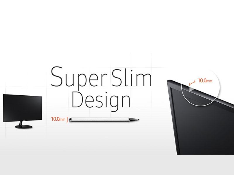Picture featuring super slim design of Samsung SF350 Monitor Series