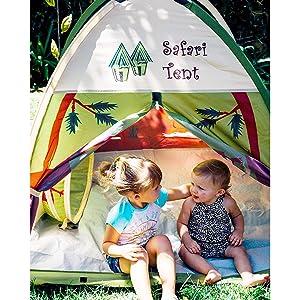 uk availability fde9e c6df6 Pacific Play Tents 20435 Kids Safari Fun Dome Tent Crawl Tunnel Combo  Indoor / Outdoor Fun