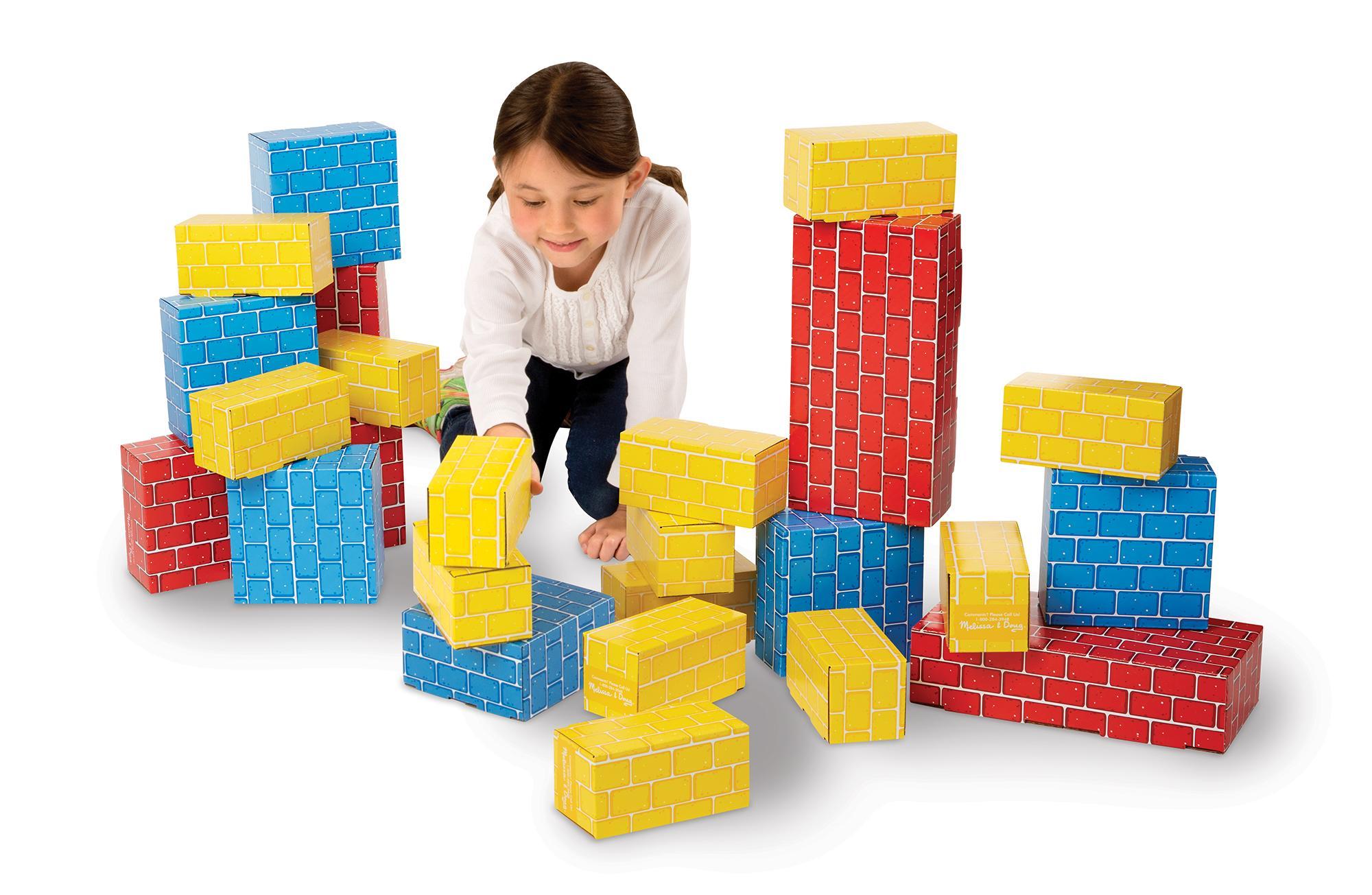 Melissa & Doug Extra Thick Cardboard Building Blocks 24 Blocks