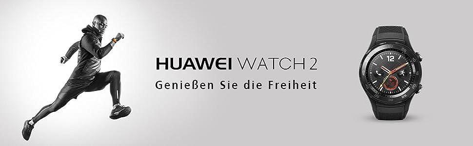 Huawei Watch 2 Genießen Sie die Freiheit Sportler Rennen Smartwatch grau