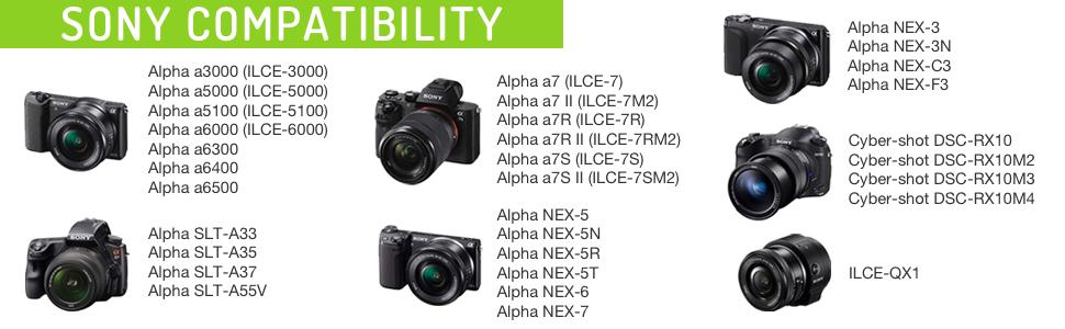 Bateria-cargador dual con display para Sony Alpha 7r II ILCE a7r II 7rm2