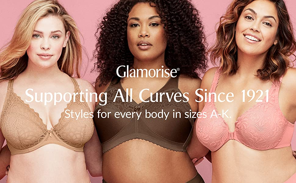 glamorise plus size bras for women lady support curves yoga gym exercise hiit lingerie workout