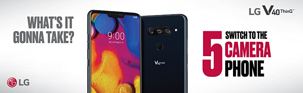 Introducing the one-of-a-kind LG V40 ThinQ 5-Camera Smartphone. Now Capture More of Life's Moments.