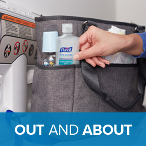 on the go, kill germs on the go, best sanitizer, sanitizer on the go, purell on the go