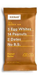 Peanut butter bar, peanut butter protein, protein bar, rxbar, rxbars, health bar, protein