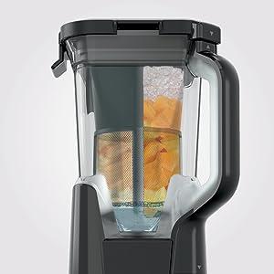 Ninja Duo w/Micro-Juice Technology, 1400-peak-watt Motor for Smoothies & Juices. Blender with DrinkSaver for Freshness (IV701), 72 oz, Black