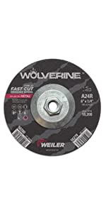 Weiler Wolverine Type 27 Grinding Wheel