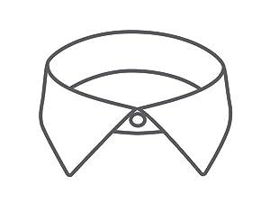 VH POPLIN spread collar