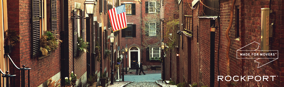 boston, street scene, brownstone, american flag, made for movers