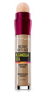 Il Cancella Età, Instant Eraser, Correttore, Occhiaie, Spugnetta,naturale, leggero, colore, sand