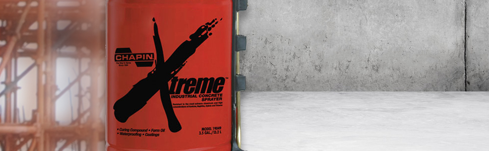 Chapin 19049 Industrial Xtreme Tri-Poxy Concrete Sprayer, 3 5-Gallon, Red