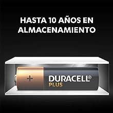Gracias a la tecnología Duralock, las pilas Duracell sin utilizar permanecen diciones ambientales