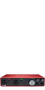 FOCUSRITE SCARLETT フォーカスライト スカーレット 第三世代 オーディオ インターフェイス インターフェース 録音 レコーディング 宅録 DTM DAW 初心者 入門 セット 楽器