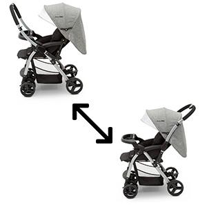 jeep stroller reversible handle forward -facing parent-facing grow with me baby