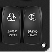 Drving lights switch