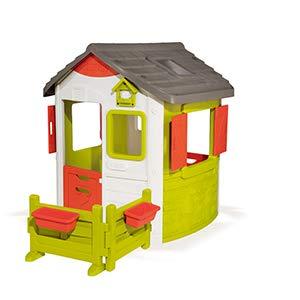 Smoby Jura Lodge II - Casita Infantil Personalizable, Color Verde (810500) , color/modelo surtido: Amazon.es: Juguetes y juegos