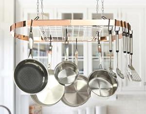 classicor series wroughtiron oval pot rack