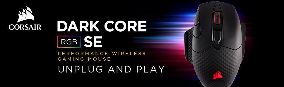 Chuột không dây Corsair DARK CORE RGB SE Performance Wired / Wireless (Qi® Wireless Charging)