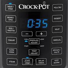 Crock-Pot CSC051X, Olla Multicooker Express para todo tipo de recetas: cocción lenta, cocción rápida a presión con varios ajustes, sellar/saltear, vapor y yogur, 5.7 litros, Negro: Amazon.es: Hogar