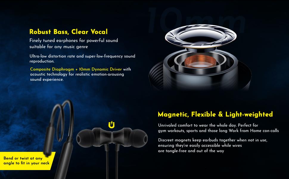 Tangent Lite Wireless Earphones with Mic