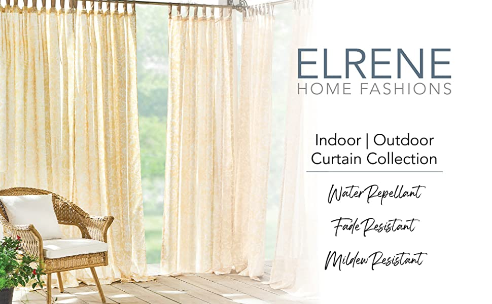 Elrene Home Fashions indoor outdoor curtains