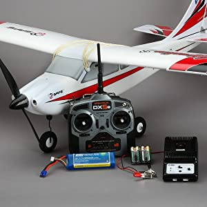 Apprentice S 15e RC airplane with included battery, charger and radio transmitter