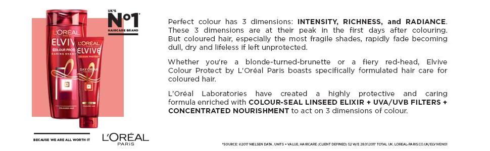 elvive, shampoo, conditioner, colour protect