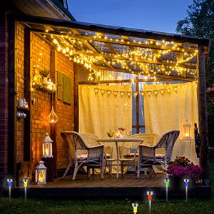 Relaxdays Set de 10 lámparas solares, LED impermeables, Iluminación de exterior, Acero inoxidable, Luz blanca, Plateado: Amazon.es: Jardín