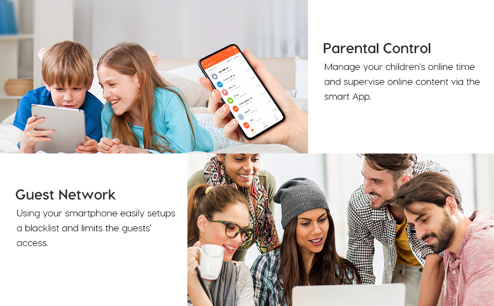 parental control and guest network