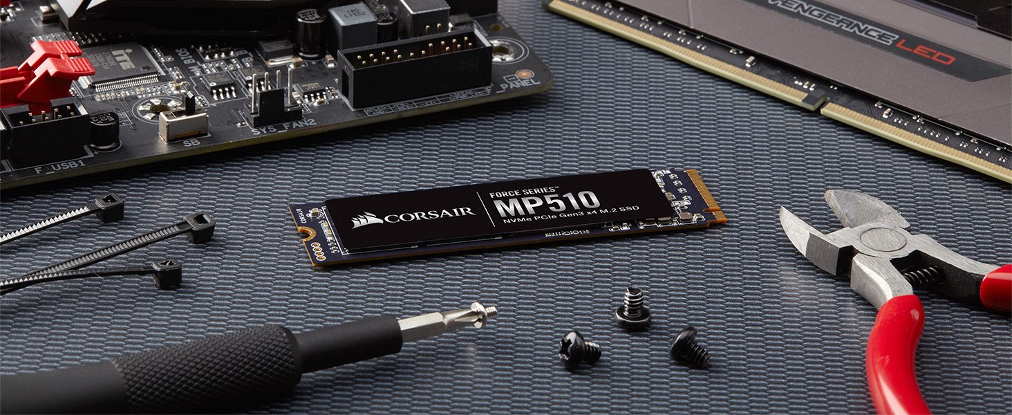 MP510 240GB 480gb 960gb 1920gb NVMe PCIe Gen3 x4 M.2 SSD Solid State Storage, Up to 3,480MB/s