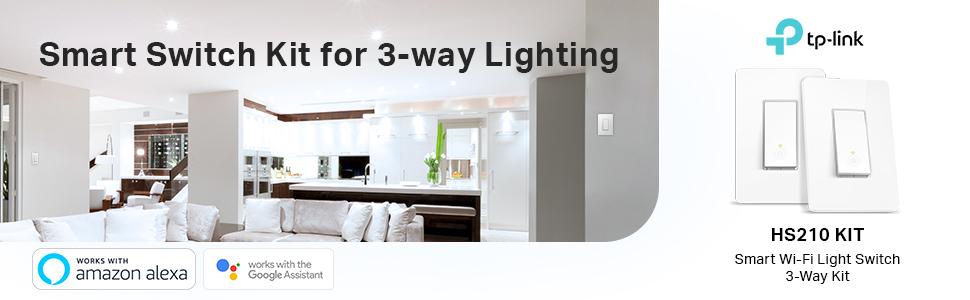 Smart Wi-Fi Light Switch 3-Way Kit