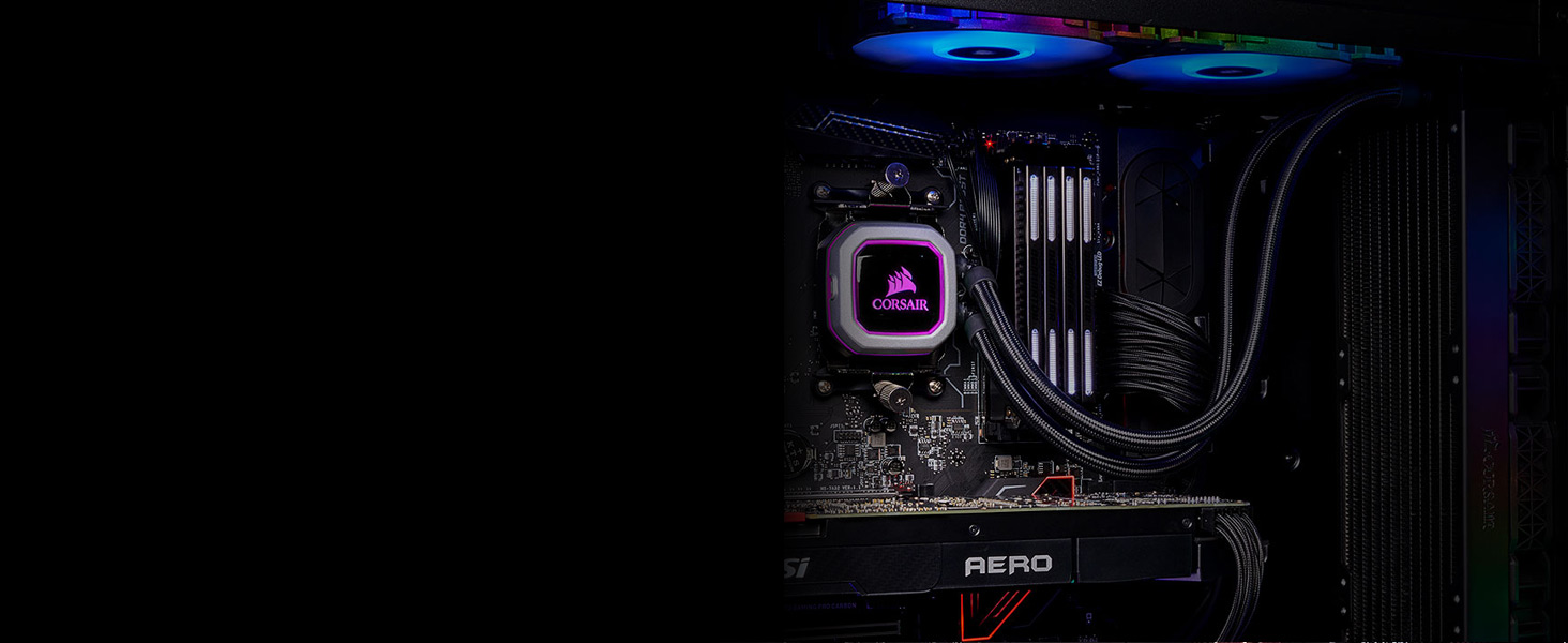 CW-9060031-WW Hydro Series H150i PRO RGB 360mm Liquid CPU Cooler
