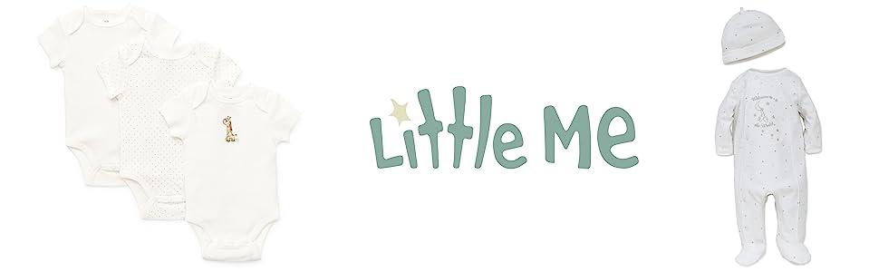 2e455b66d Amazon.com  Little Me Girls  Unisex Baby 2 Piece Footie and Cap Set ...