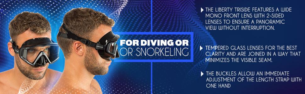 cressi, mask, liberty triside, scuba diving, snorkeling