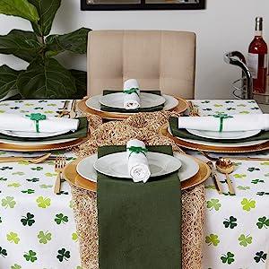 st patricks day tablecloth fabric saint patricks day table decorations shamrock table clover decor