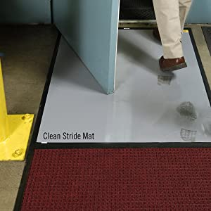 Clean Stride mat, clean, safe, healthcare, sanitary, dust control, dirt control, cleanroom