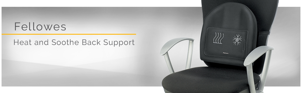 heat, soothe, back support, back rest, back rests, back supports, ergo, ergonomics, chair, fellowes