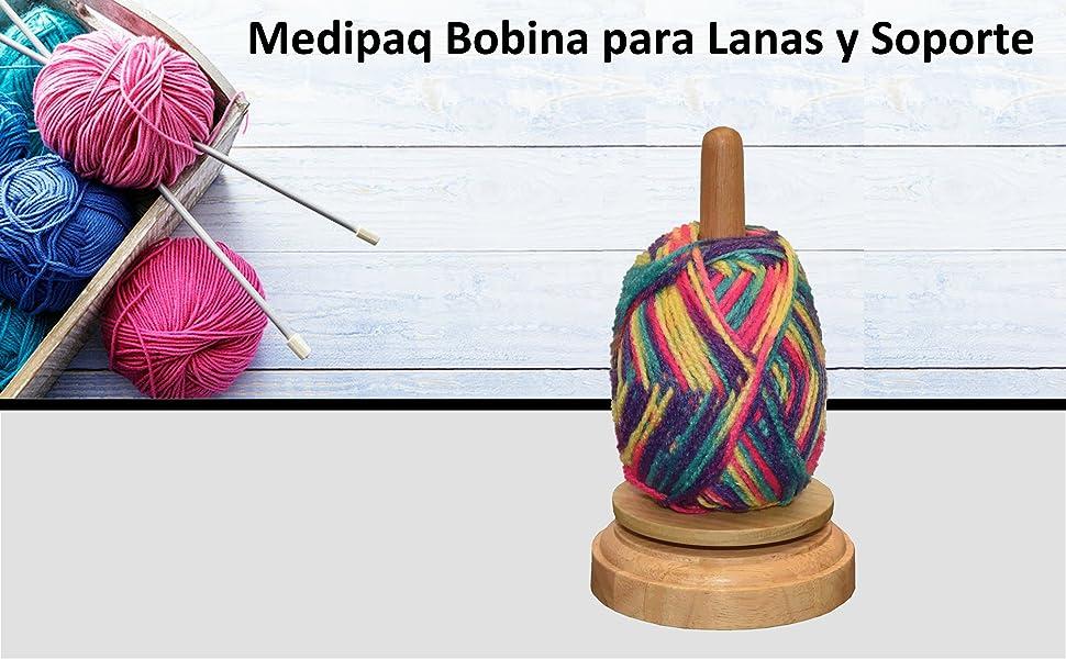 2 x SPINNING tejer hilo soporte de madera: Amazon.es: Hogar