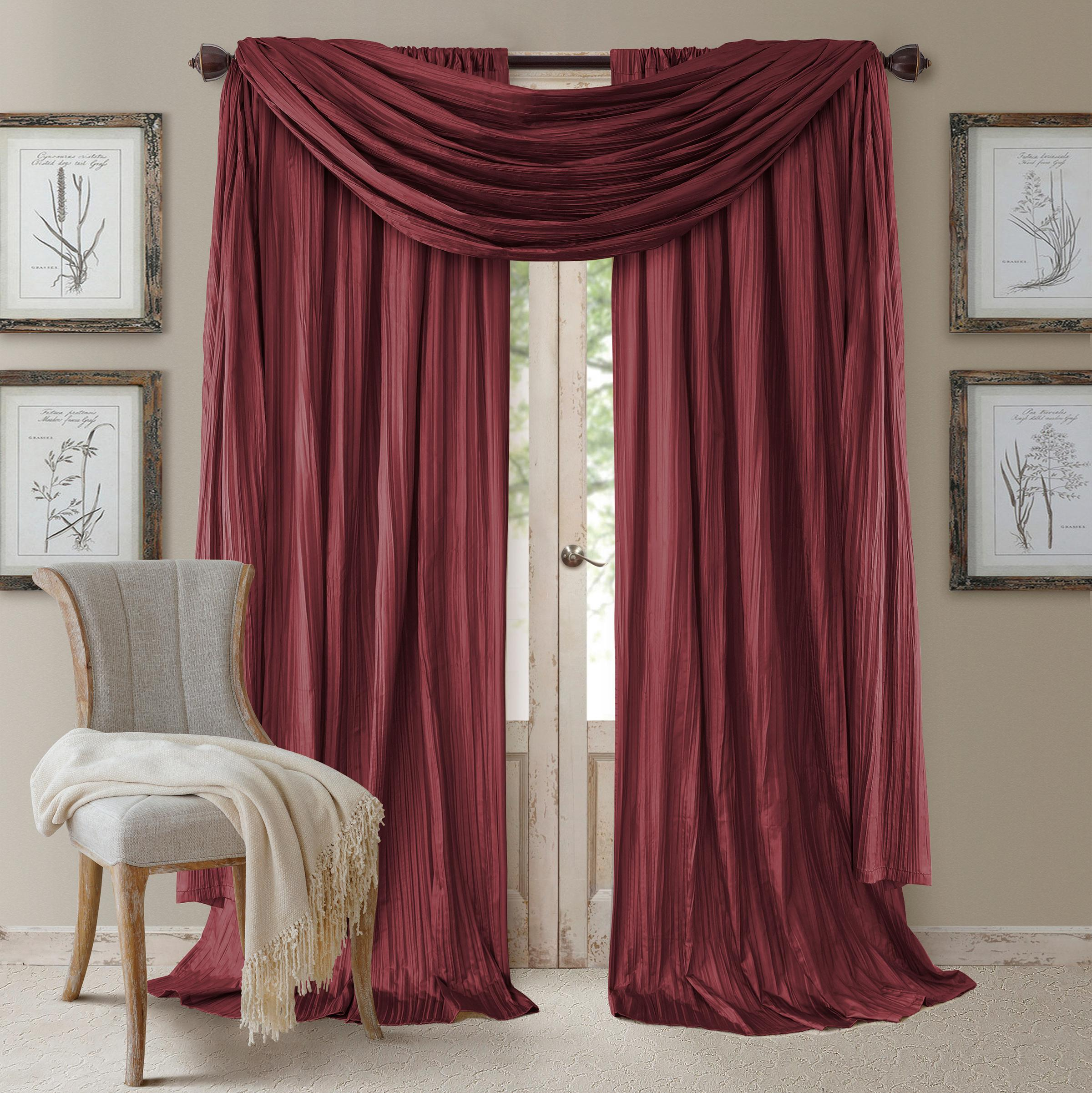 Amazon Com Elrene Home Fashions Venice Faux Silk Pair Of