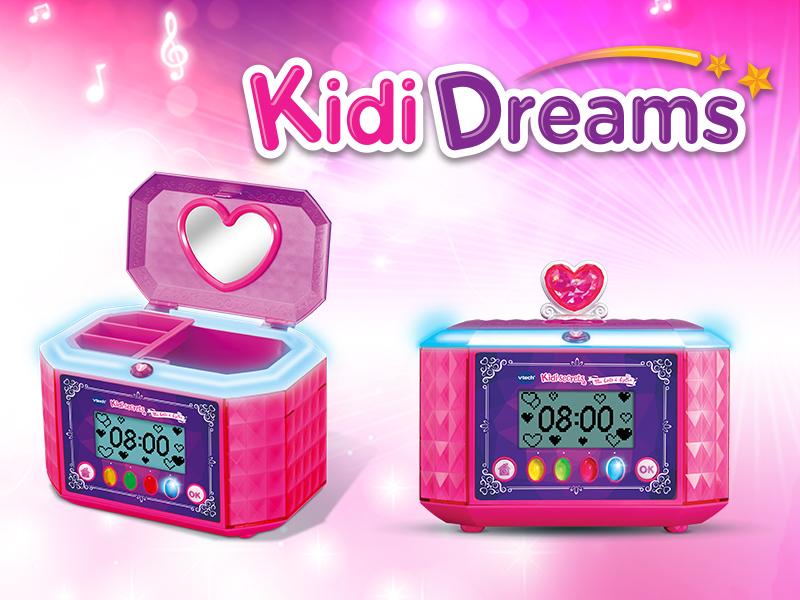 kididreams,kidisecrets,vtech,jouet,enfant,boite,secrets,musique,reveil,mp3,boite rangement,rose